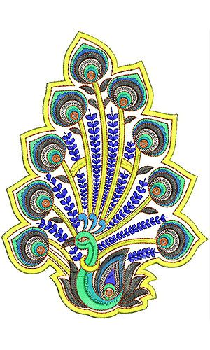 Creative Wall ART | Sequins Peacock Embroidery Design