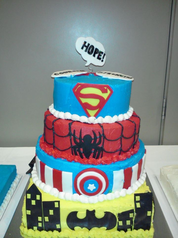 Super Hero Cakes Donated To The 2012 Relay For Life Survivors Dinner