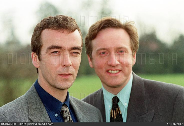 Left:  JOHN HANNAH  British Actor  Right:  NEIL DUDGEON  British Actor  (Stars of the BBC Drama Series