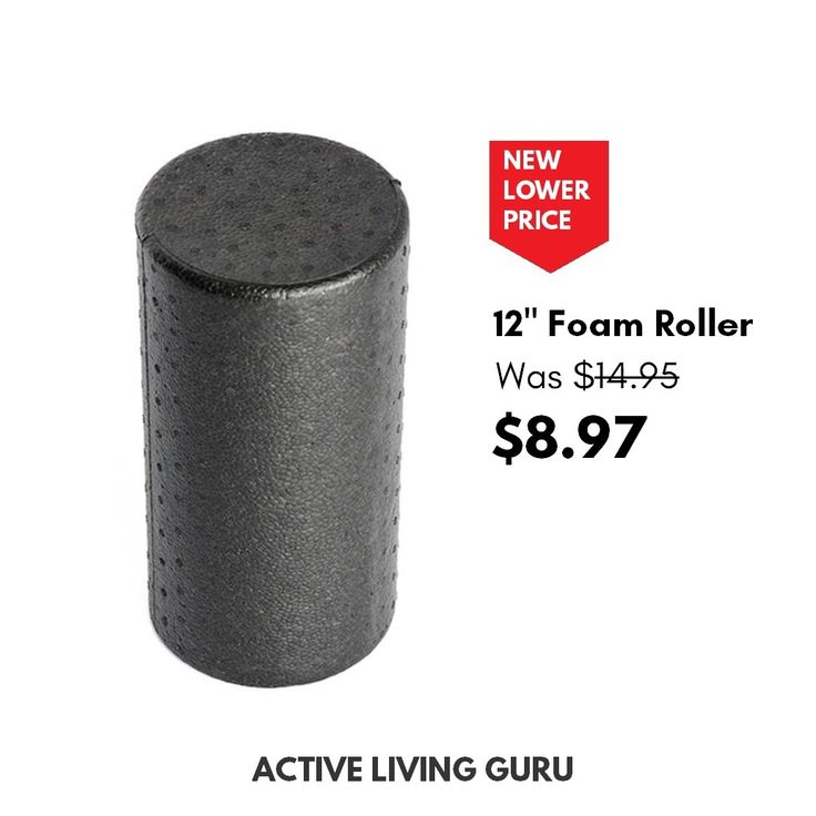 Save 40% on our bestselling foam roller. Eliminate back and muscle pain by foam rolling twice a day for 5 minutes!