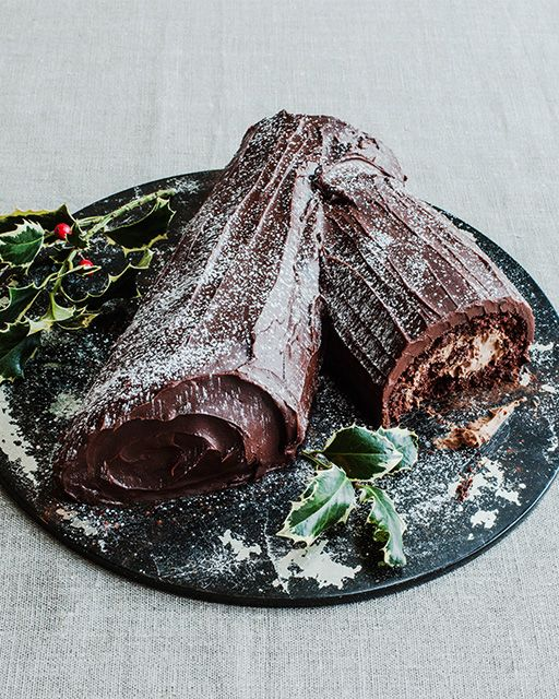 "Chocolate Nutella Yule Log Cake from Jane Hornby's book ""What To Bake & How To Bake It"" #SweetPaul"