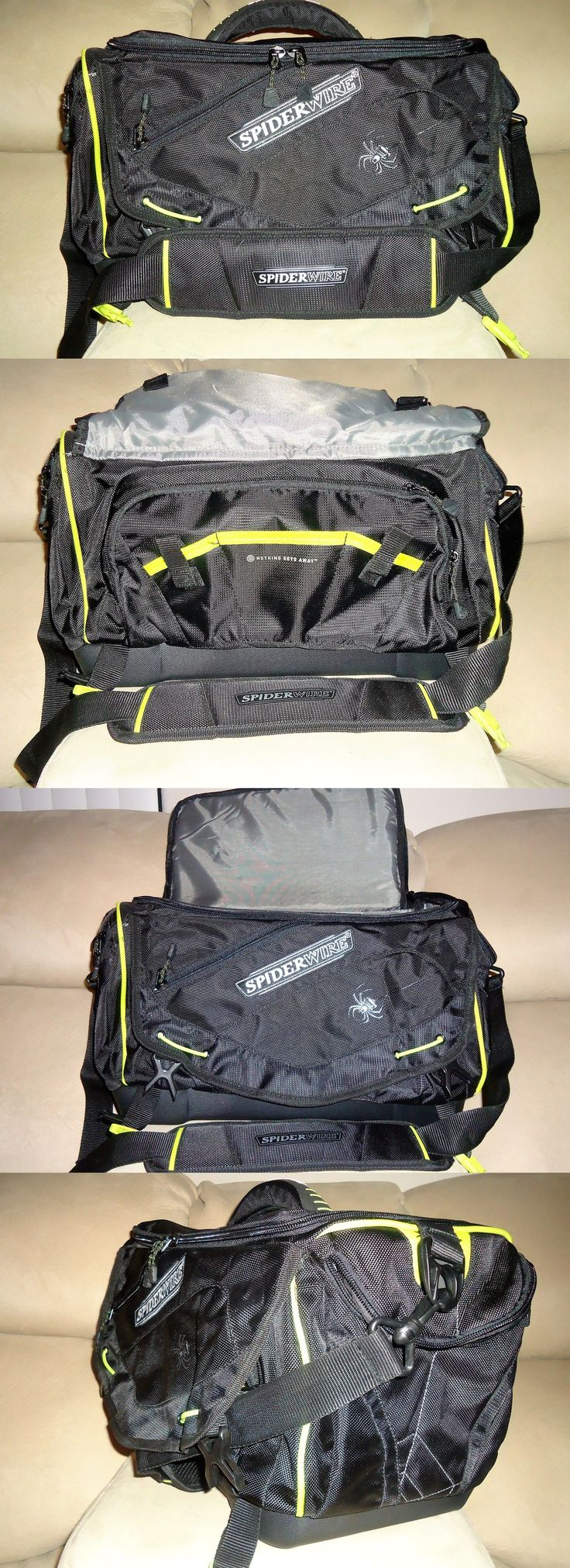 Tackle Boxes and Bags 22696: Large Spiderwire Black Fishing Tackle Bag -> BUY IT NOW ONLY: $48.5 on eBay!