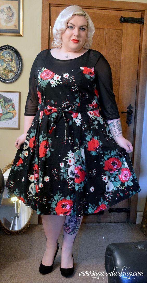I WANT THIS DRESS. Winter Blooms - Scarlett & Jo Black Floral Print Prom Dress Review