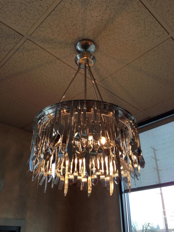 27 best Cutlery chandeliers images on Pinterest | Cutlery ...