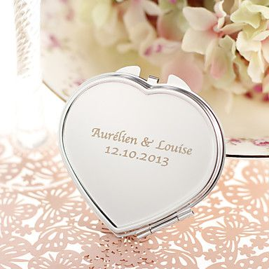 Personalized+Heart+Shaped+Stainless+Steel+Compact+Mirror+Favor+–+CAD+$+3.88