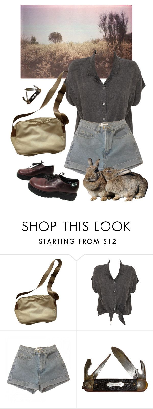 """dirt"" by paper-freckles ❤ liked on Polyvore featuring Prada, Evil Twin, American Apparel and Eastland"
