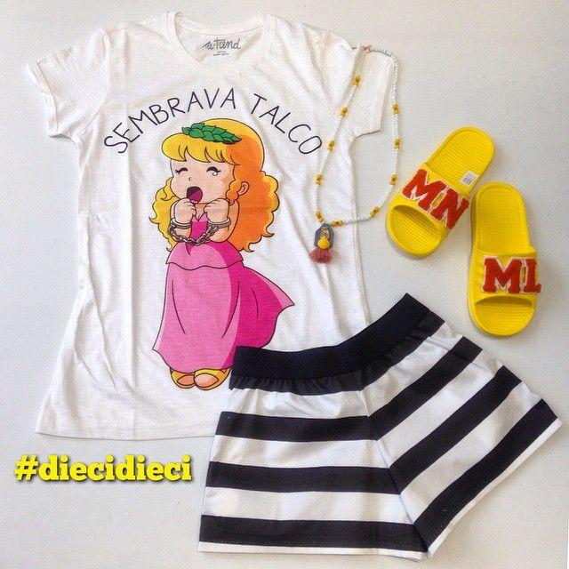 Bazaretto for Tee Trend #DieciDieci #tshirt #teetrend #outfit #look #pollon #bazaretto #cartoon #italia1