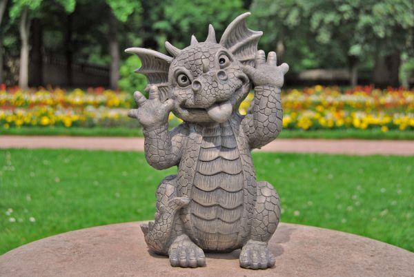 Gartendrache Schneidet Grimassen Drachen Kinder Gartenfiguren Fantasy Figuren