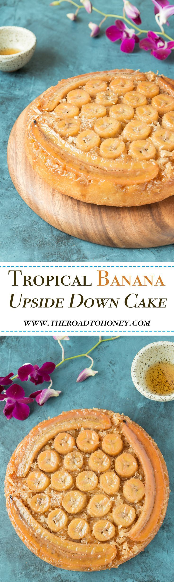 Tropical Banana Upside Down Cake!!! Oh my goodness.... how absolutely incredibly delicious!!!!!