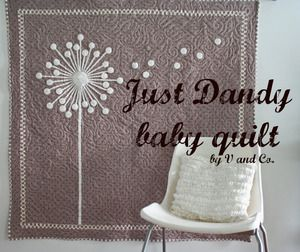 Wow.  Love!  Dandelion quiltModern Baby, Wall Hangings, Baby Quilt Pattern, Quilt Ideas, Baby Quilts, Quilt Patterns, Baby Baby, Baby Blankets, Flower Quilt