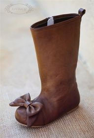 maci brown bow boots by joyfolie