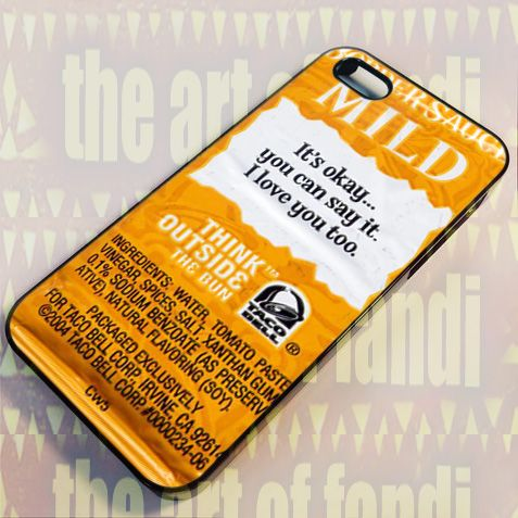 Taco Bell Sauce Packet For iPhone 5/5c/5s Black Rubber Case