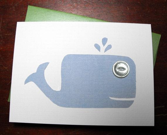 $3.50 Blue Whale Greeting Card