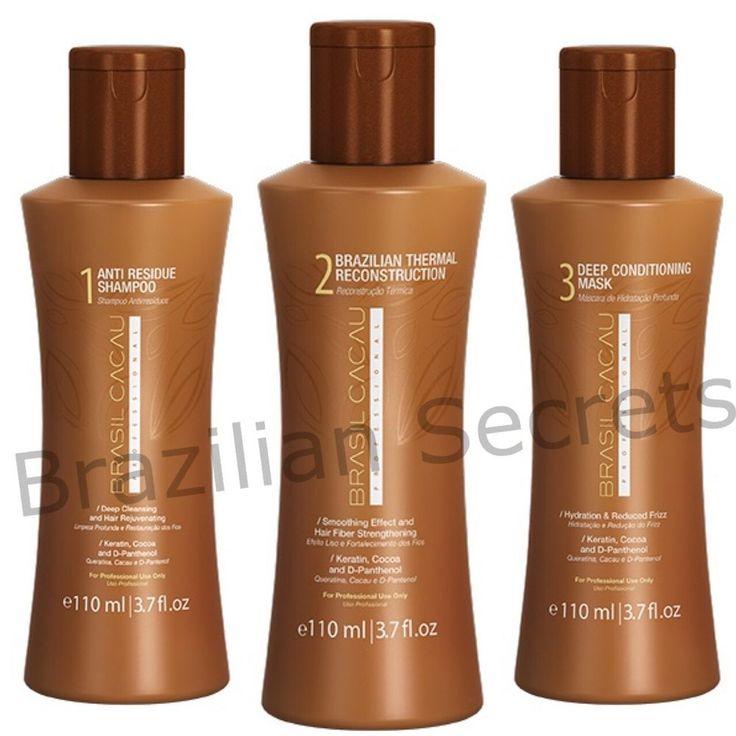 CADIVEU BRASIL CACAU BRAZILIAN KERATIN TREATMENT BLOW DRY HAIR STRAIGHTENING KIT  | eBay