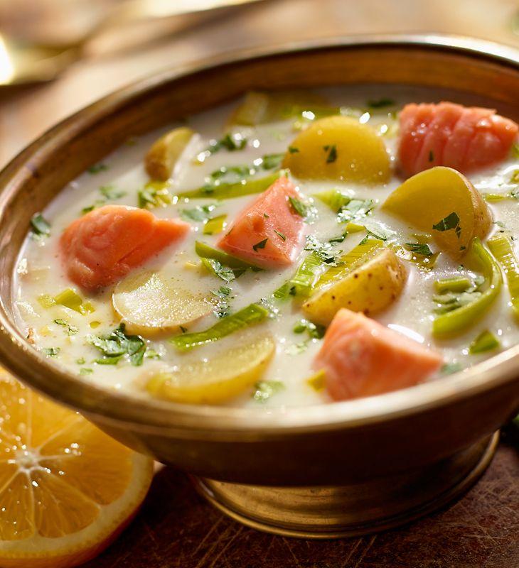 Zupa ziemniaczana z łososiem #lidl #przepis #zupa #ziemniaki #losos #ziemniaczana #ryneczeklidla