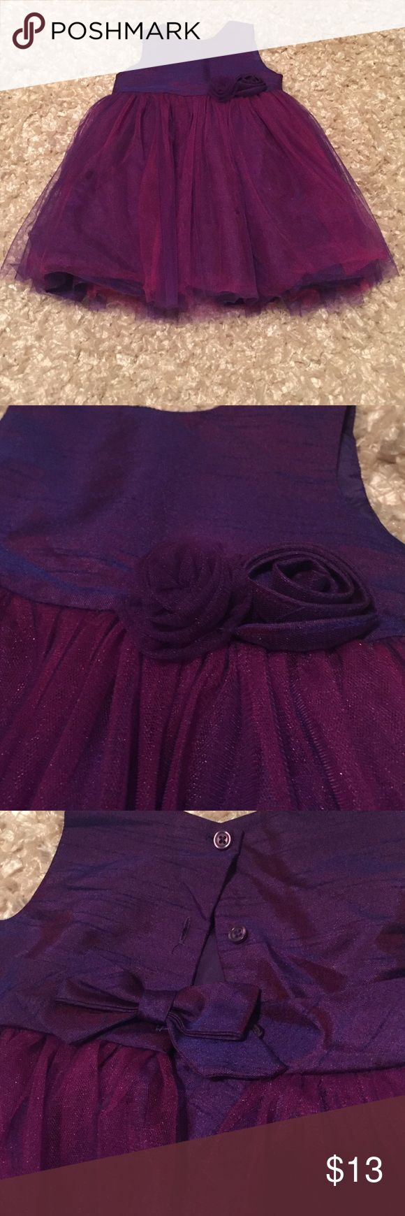 18m dress Cherokee brand 18m purple dress.  The purple is color changing with pink/purple tulle.  EUC. Cherokee Dresses Formal