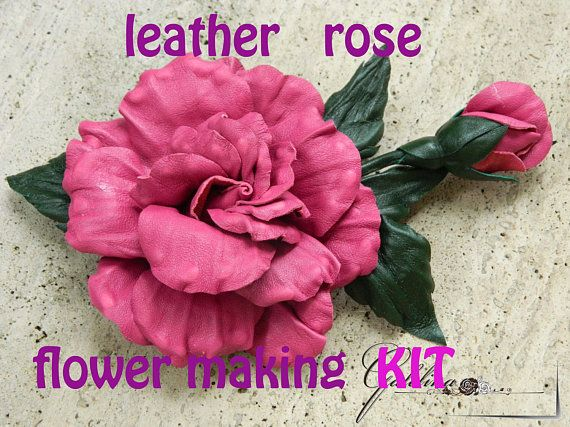 35 best flower making millinery tools images on pinterest for Leather flowers for crafts