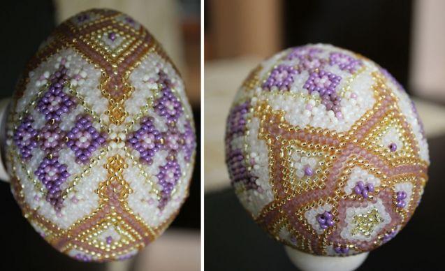 Пасхальные яйца со схемами( из интернета) / Бисер / Разнообразные поделки из бисера: схемы,мастер классы