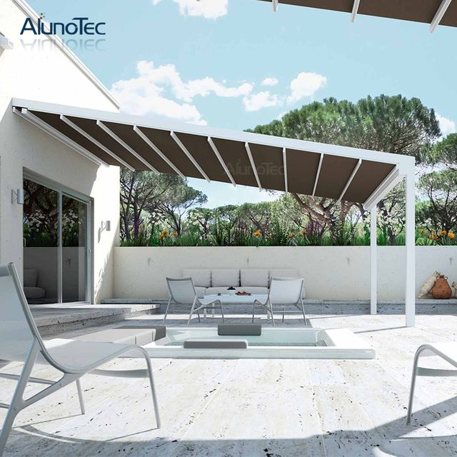 Retractable Awning Retractable Awning Products Retractable Awning Manufacturers Retractable Awning Suppliers And Expo In 2020 Pergola Aluminum Gazebo Curved Pergola