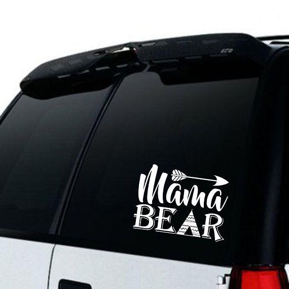 Mama bear car truck decal moms car decal top mom car decal