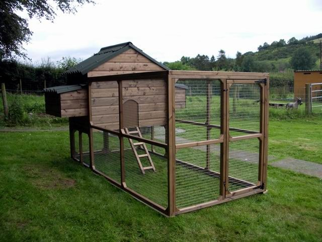 Chicken Coop, Hen House With Chicken Run For 6 To 8 Chickens, Easy Clean  And Fox Proof, Made In UK