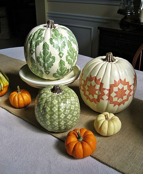 Country living inspired DIY pumpkins.