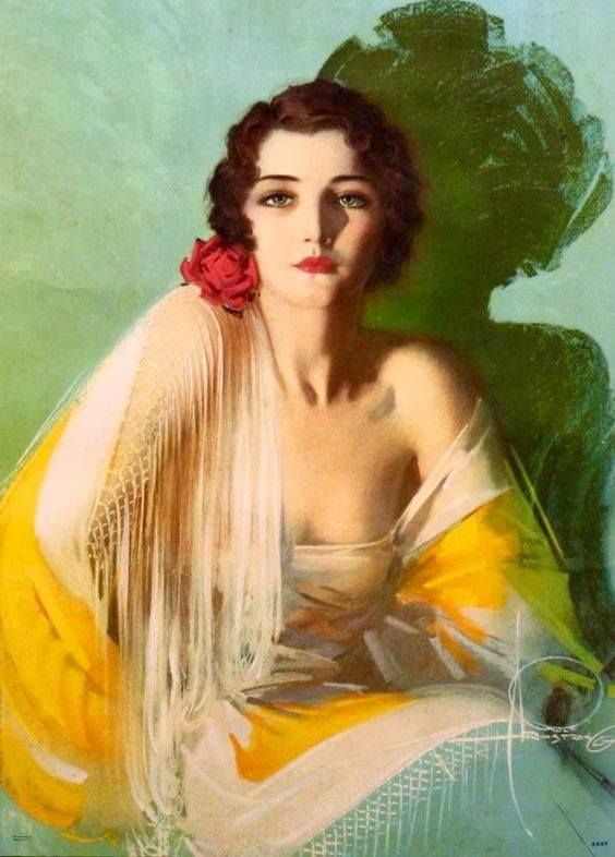 illustracion by Rolf Armstrong 1930s