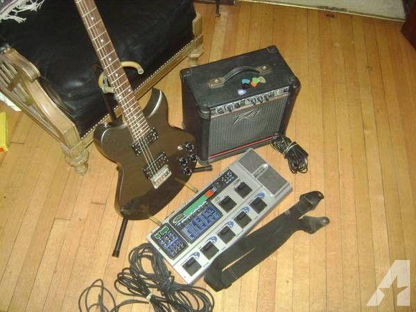 Washburn Electric Guitar Peavey Amp & Digitech Pedals - $190