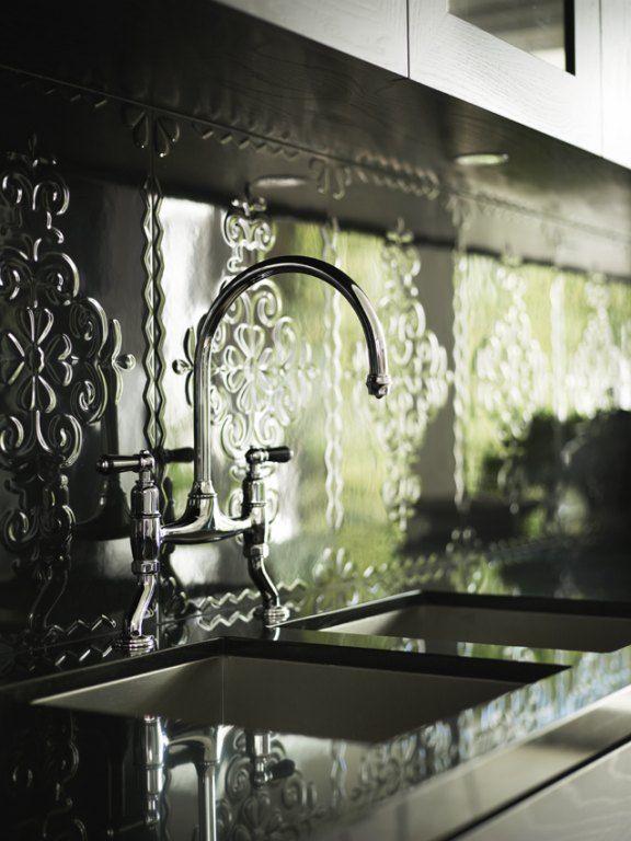 17 Best Images About Pressed Tin Splashbacks On Pinterest Kitchen Backsplash Vent Hood And