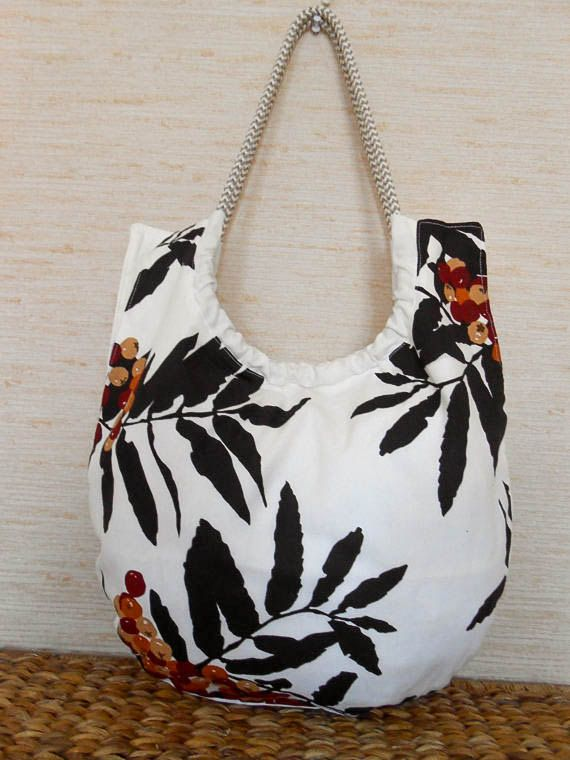 Cotton Handbag Women Handbag Beach Bag Shoulder Bag Gift For Her Canvas Tote Bag Flowers Purse Canvas Book Bag Fabric Bag
