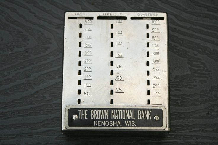 Vntg Coin Currency Bank Metal The Brown National Bank Wisconsin USA #TheBrownNationalBank