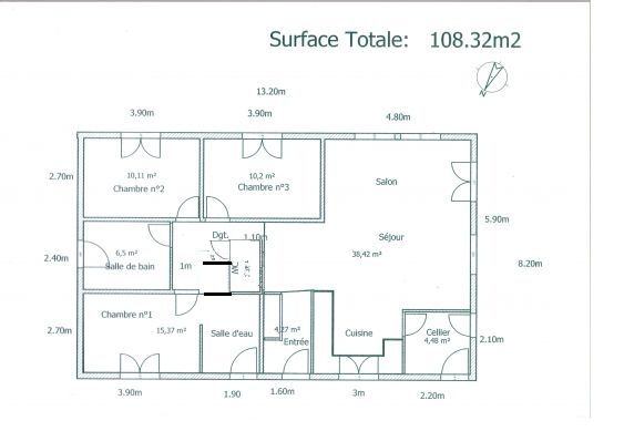Plan d une maison 100m2 plans de maison maison 100m2 plan maison et plan dune maison - Maison de 100m2 plan ...