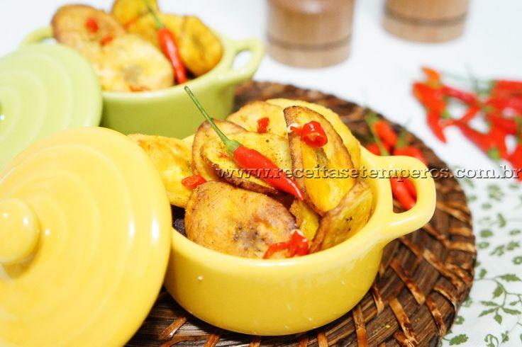 Banana frita temperada   Receitas e Temperos