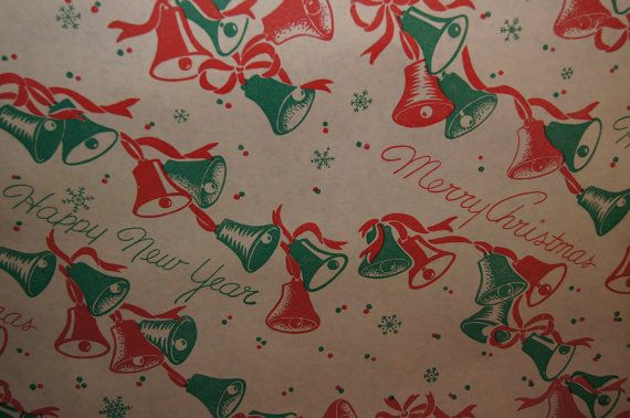 Vintage Christmas Wrapping Paper by The Yard by kimberleeedgar1, $10.00