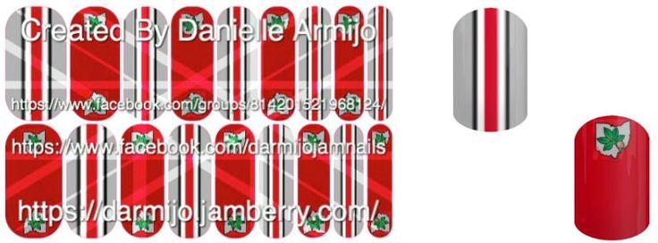 Ohio State University Buckeyes #OSU #ohio #buckeyes #football #fans #nails #jamberrynails #nasdesignsbydaniellearmijo #orderthrume http://darmijo.jamberrynails.net/ https://www.facebook.com/groups/814201521968124/