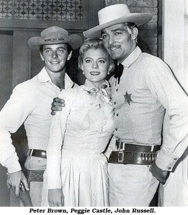 Peter Brown, Peggie Castle, John Russell.