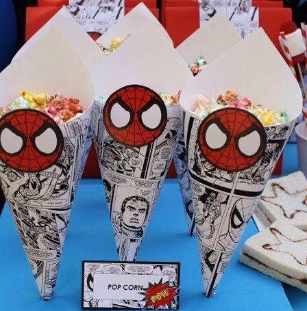 Lindas ideas para usar cómics en fiestas de superhéroes.