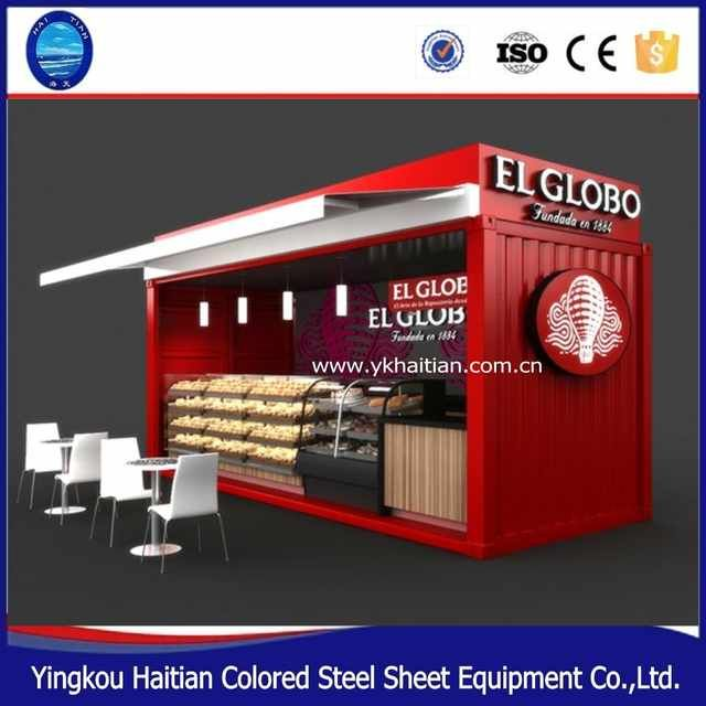 Source Low Cost Flat Pack Prefab Casas Contenedor 20 Restaurant Furniture Outdoor Food Kiosk Design On M Container Cafe Container Shop Shipping Container Cafe