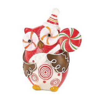 Sugary Sweet Holiday Owl Decor