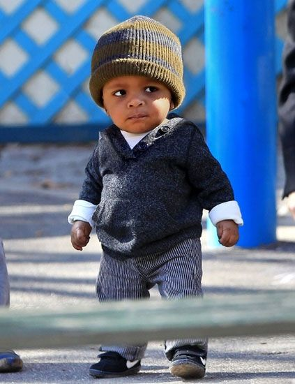 Don't really have a board for babies so he goes here...Sandra Bullock's son, Louis - my fav celeb baby.  Isn't he cute!