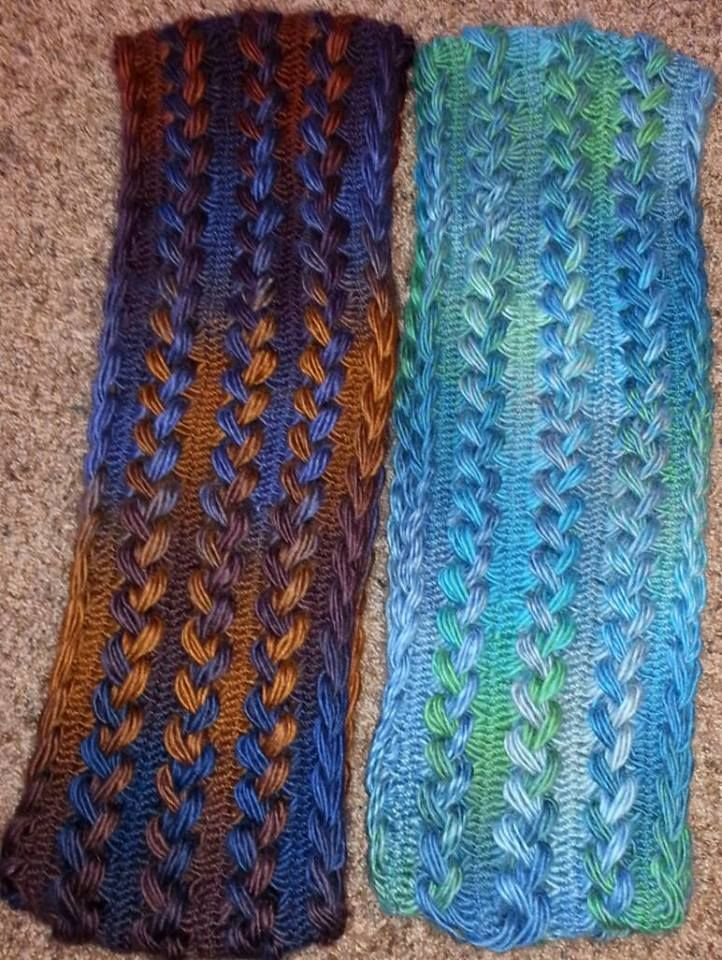 Crochet hairpin lace infinity scarf                                                                                                                                                                                 More