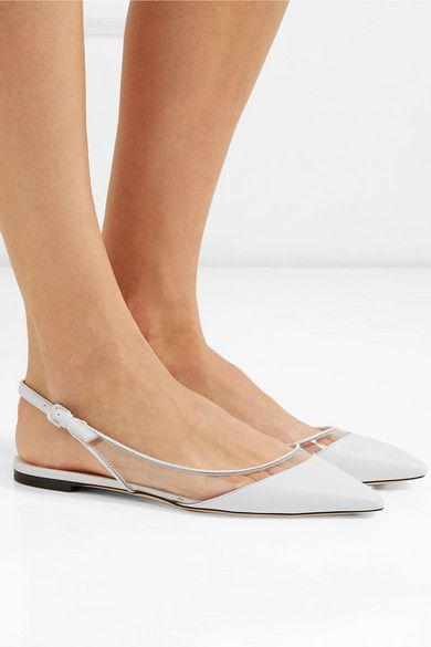 6e712446d13 Jimmy Choo - Erin PVC and leather slingback point-toe flats in 2019 ...