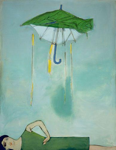"""Tadeusz Kantor, Emballage II """"Parasol i postać"""", 1967. Własn.: Muzeum Narodowe we Wrocławiu"""