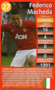 2012 Top Trumps Specials Manchester United #NNO Federico Macheda Front