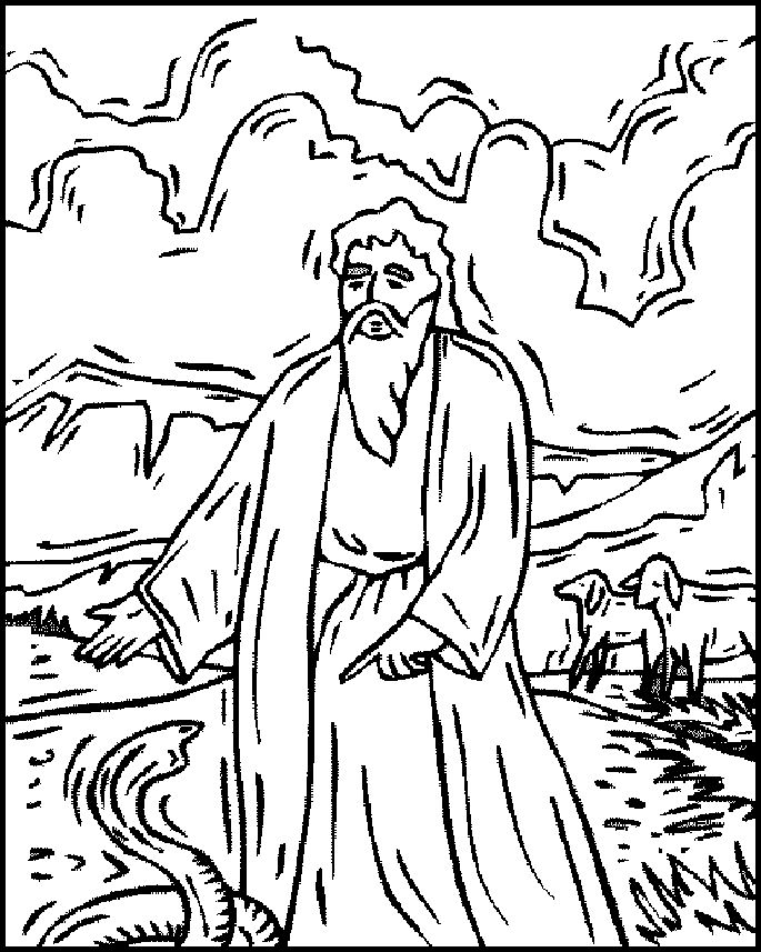 moses staff coloring pages - photo#7