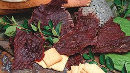Our jerky is thinly sliced whole muscle jerky.  We marinate our meat for 5 days before we put it in our smokehouses to dry.  We offer buffalo and beef jerky in a number of delicious flavors!