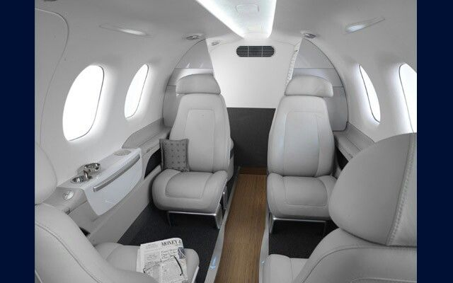 Embraer Phenom 100e interior  4 seater jet