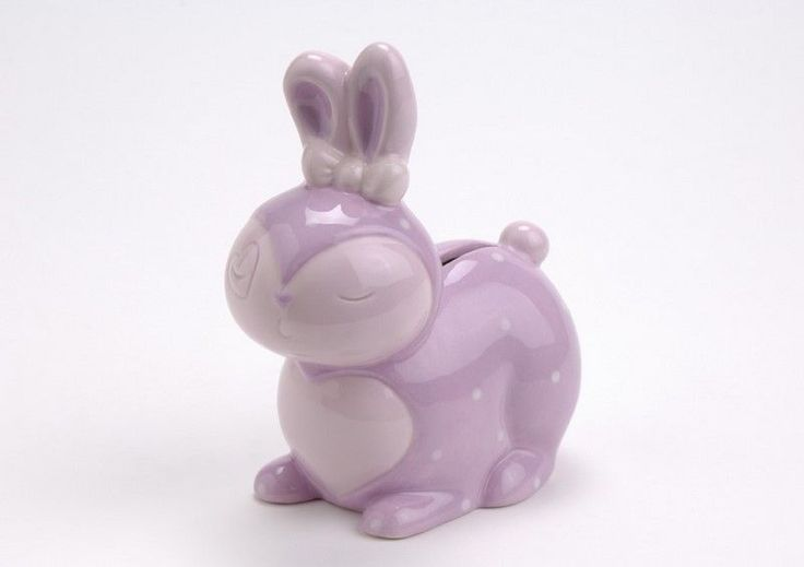 Tirelire lapin rose - Amadeus