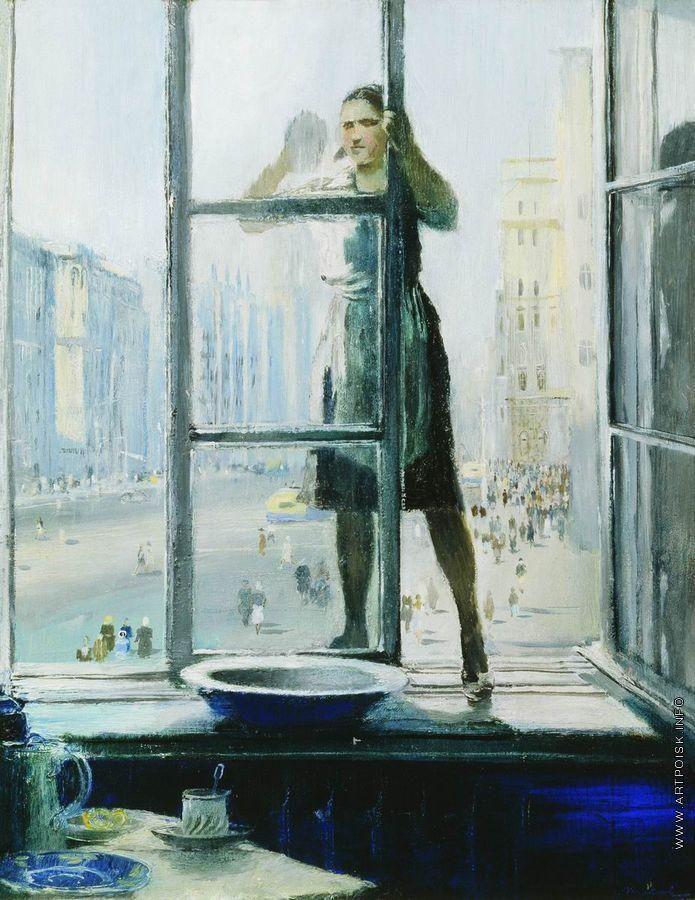 Yuri Pimenov (1903-1977) - Spring window, 1948