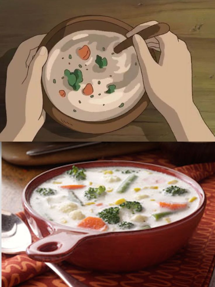 Secret World of Arriety Ghibli Feast Vegetable soup.